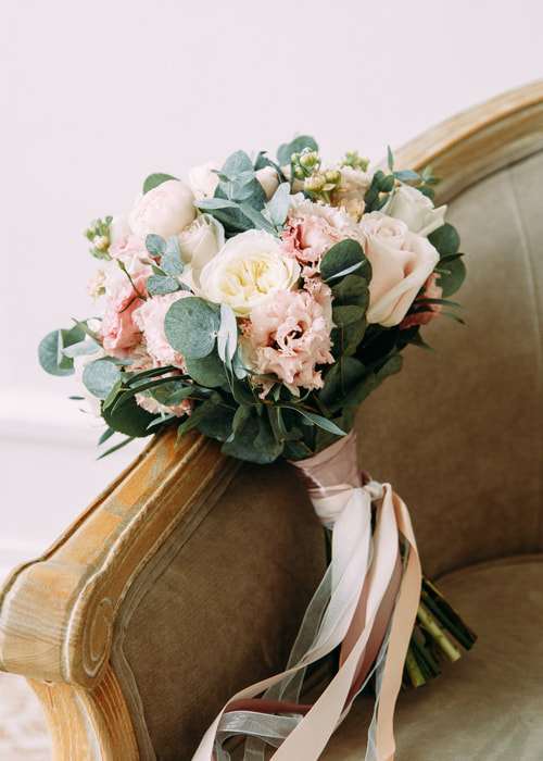 Blush and White Floral Bouquet